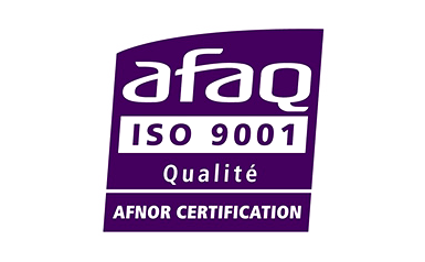Logo de la certification ISO 9001:2015 obtenue par Ubiqus